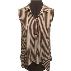 Esley Sleeveless Striped Blouse